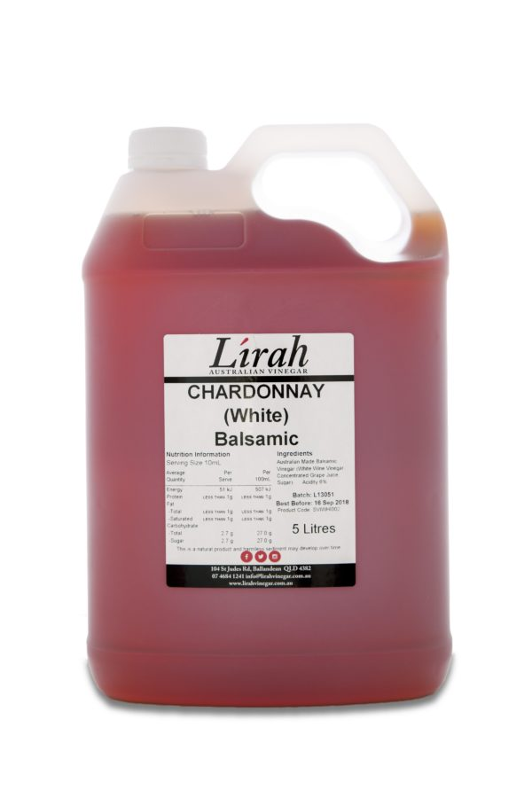 Vinegar for Chefs – Lirah Chardonnay Balsamic – Bulk for chefs