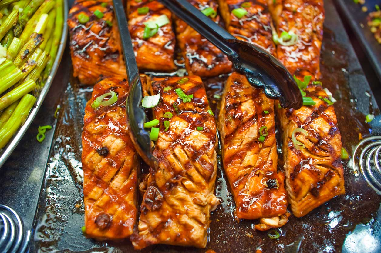 Salmon Marinated With Caramelised Ginger Balsamic & Soy Sauce Recipe