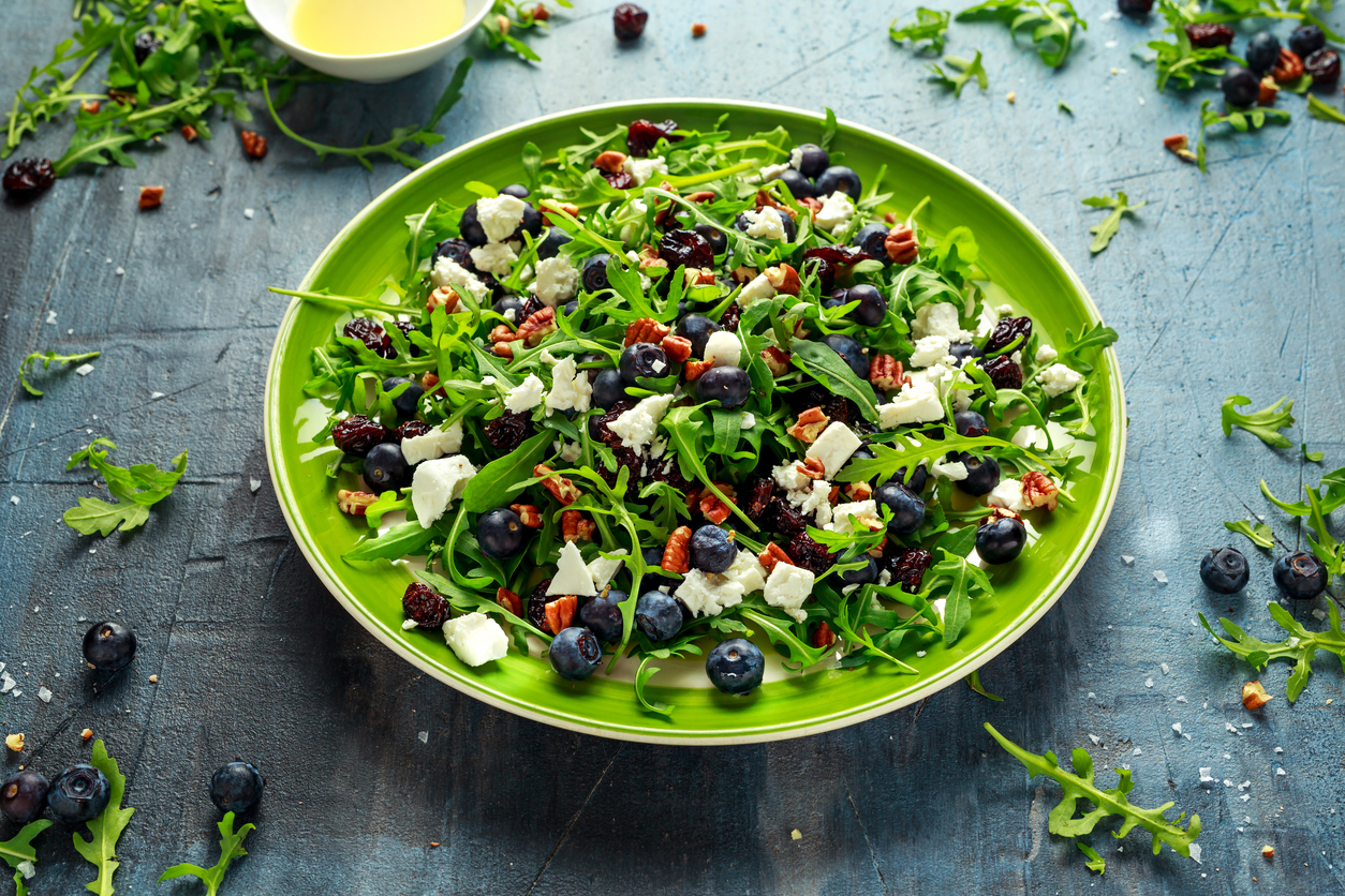 Fresh Blueberry and Cranberry Berry Salad With White Balsamic Dressing – Recipe
